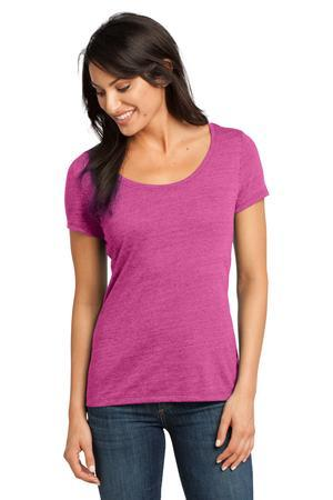 NEW-District-Made-Ladies-Textured-Scoop-Tee-DM471