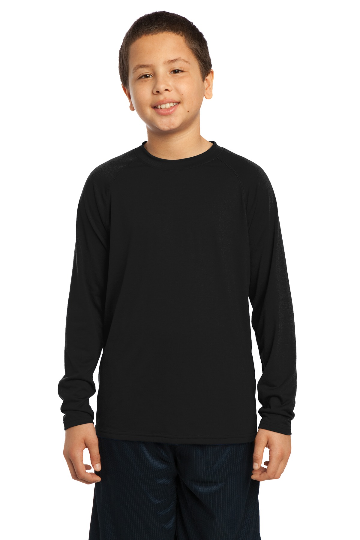 Sport-Tek Youth Long Sleeve Ultimate Performance Crew. YST700LS