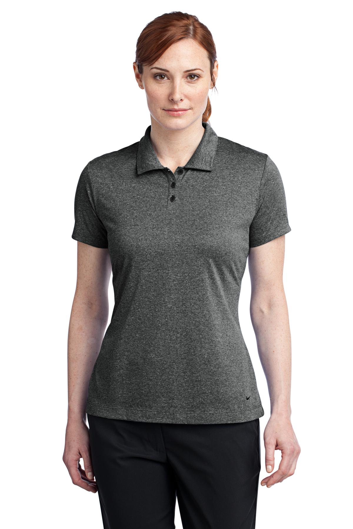 Nike Golf Ladies Dri-FIT Heather Polo. 474455