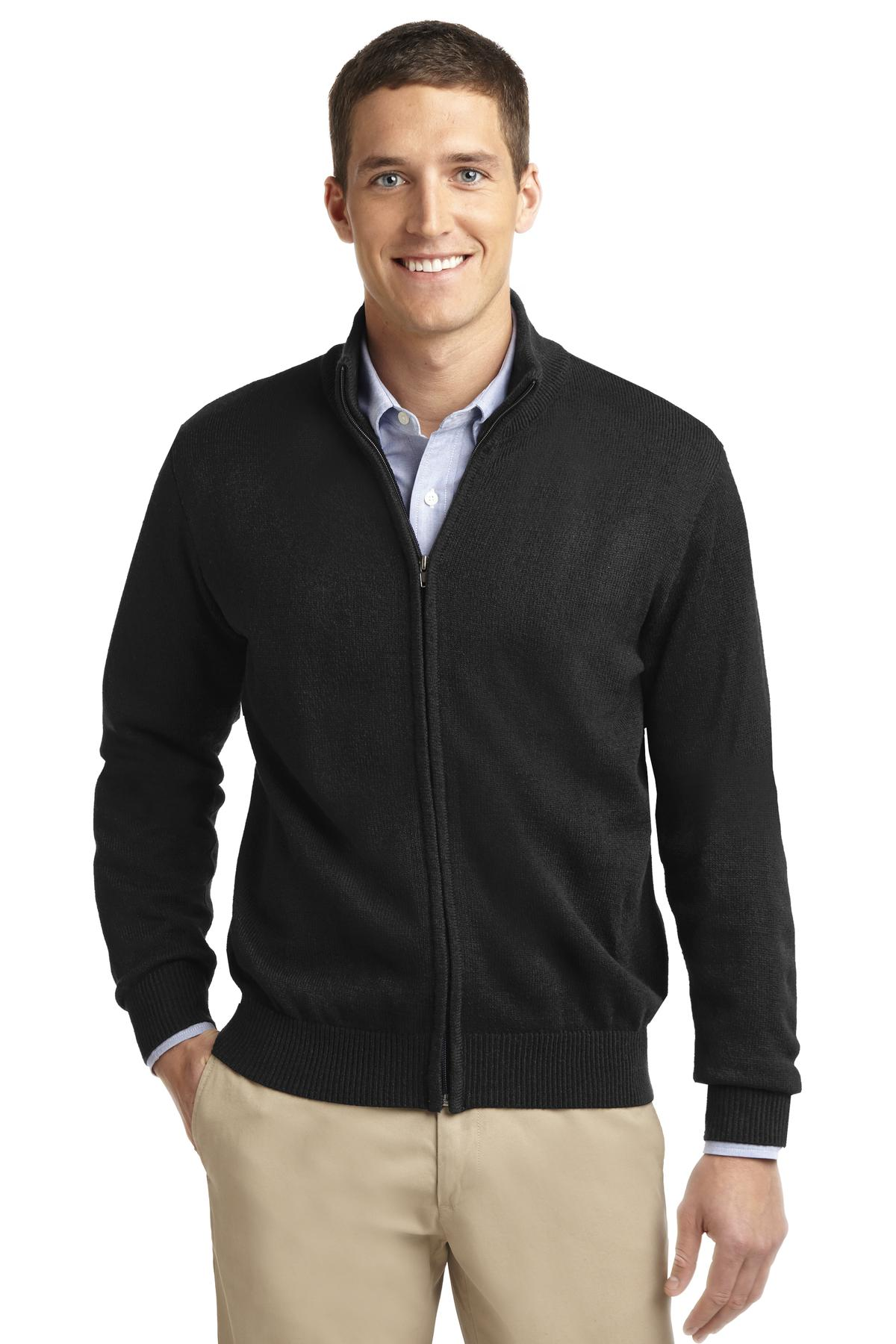 Port Authority Value Full-Zip Mock Neck Sweater. SW303