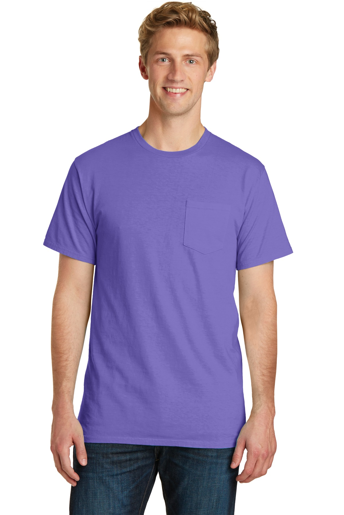 Port & Company Essential Pigment-Dyed Pocket Tee.  PC099P