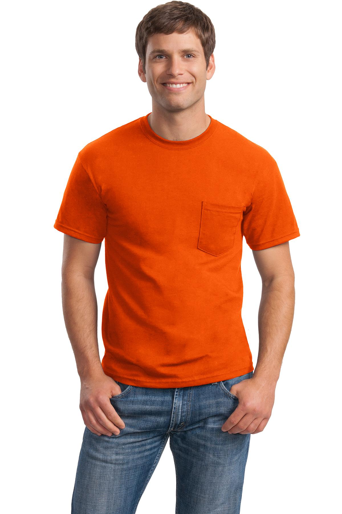 Gildan dryblend 50 cotton 50 poly pocket t shirt 8300 for Poly blend t shirts wholesale