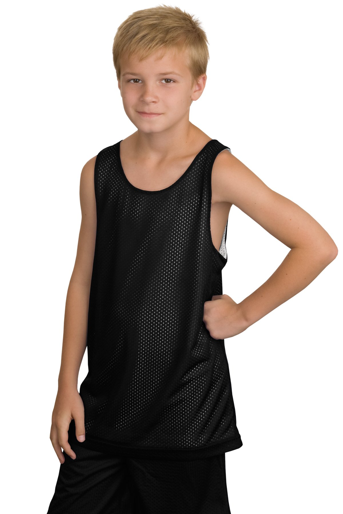 CLOSEOUT Sport-Tek Youth Reversible Mesh Tank. YT500